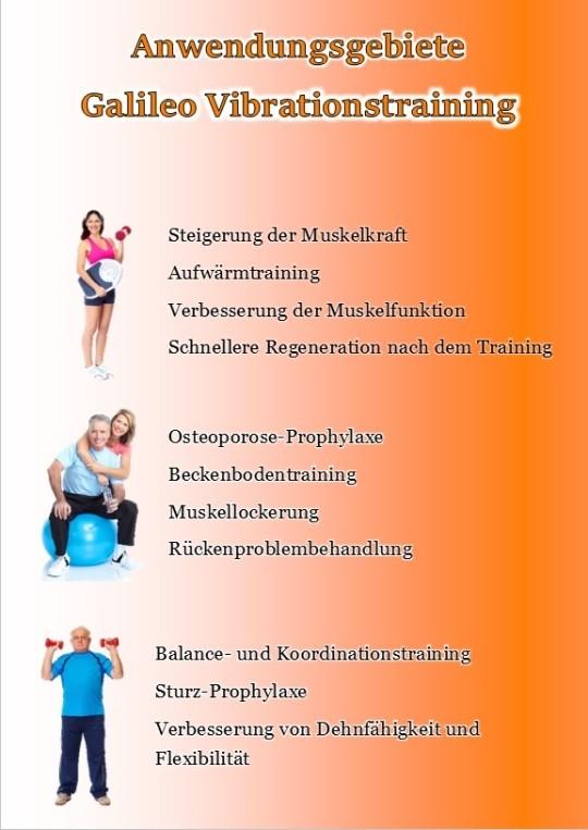 Muskeltraining und Beckenbodentraining sowie Osteoporose Prophylaxe und mehr mit dem Galileo Vibrationstraining