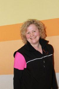 Sabine Brauch - Yogalehrerin, unsere gute Seele mit der sanften Stimme! Im Kursraum Mittwochabend